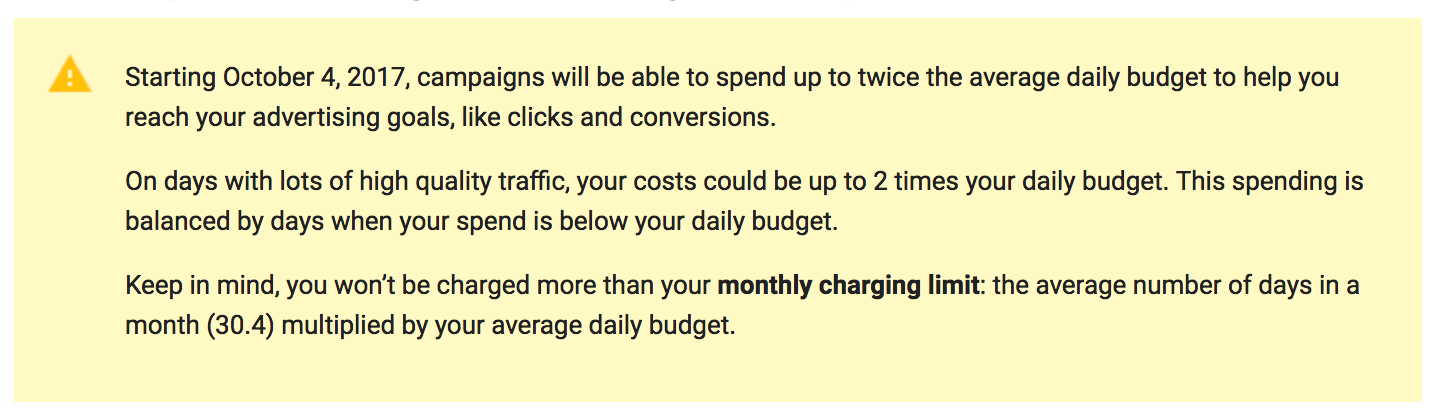 Adwords can spend double your budget
