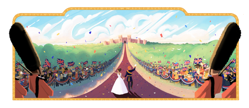 Royal wedding doodle image